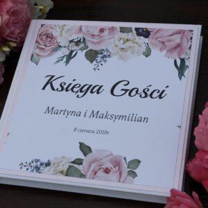 Księga gości pudrowe róże