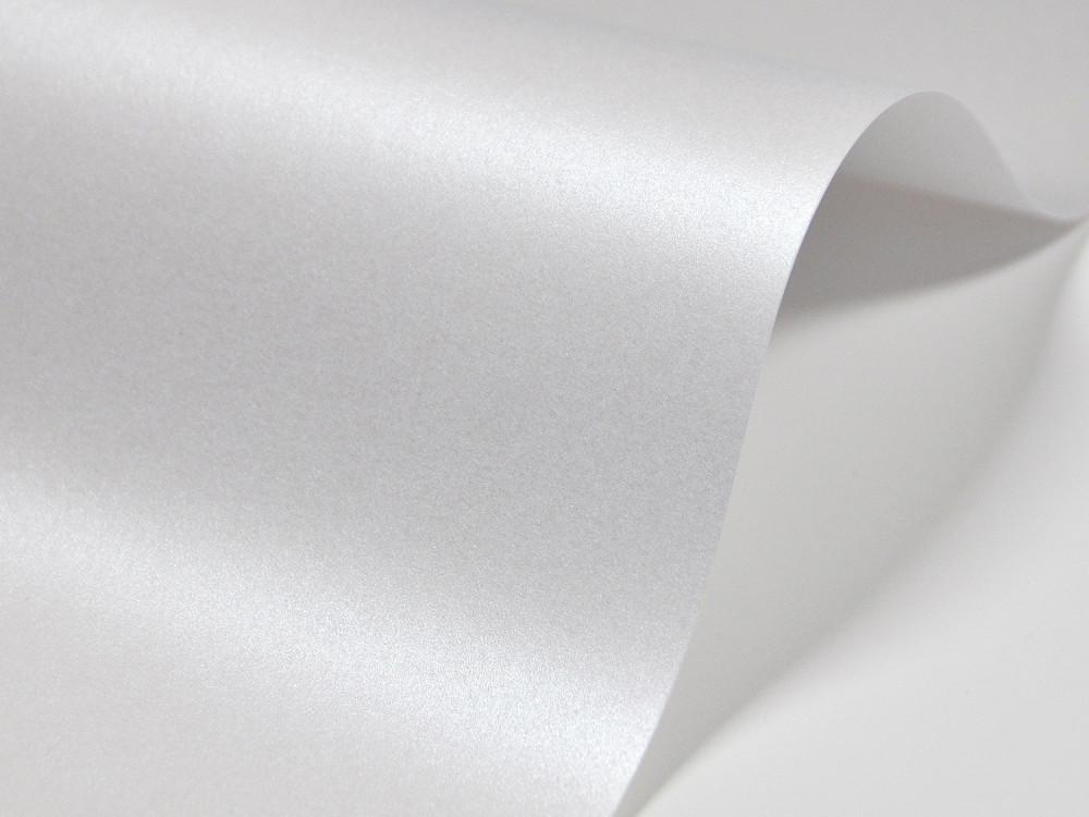 Papier Majestic – 250g marble white – biały