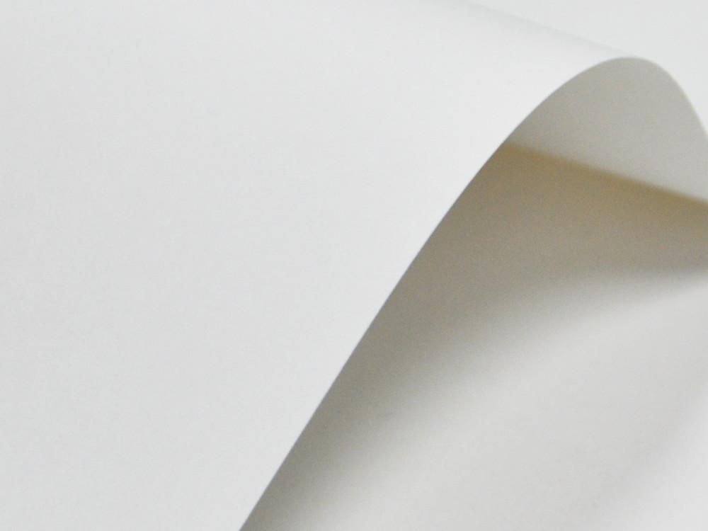 Papier ozdobny Elfenbens – 246g biały gładki-002