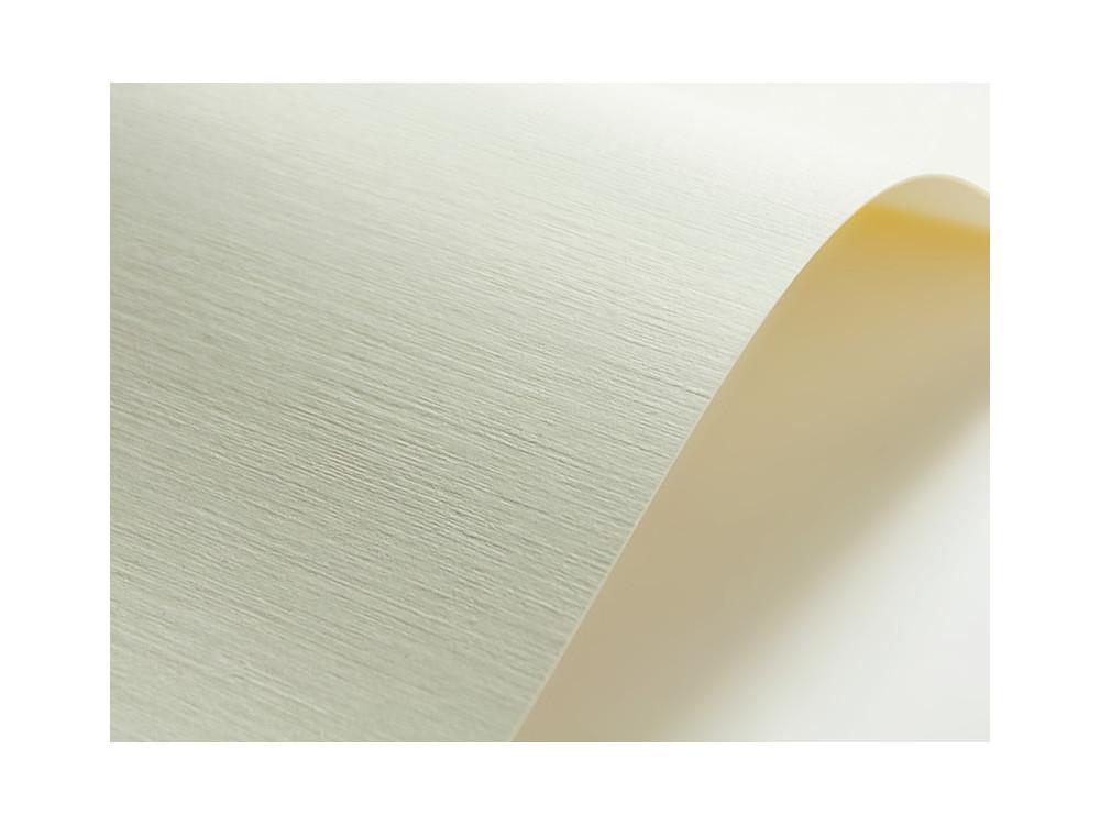 Papier ozdobny Elfenbens – 246g gladki kremowy mat