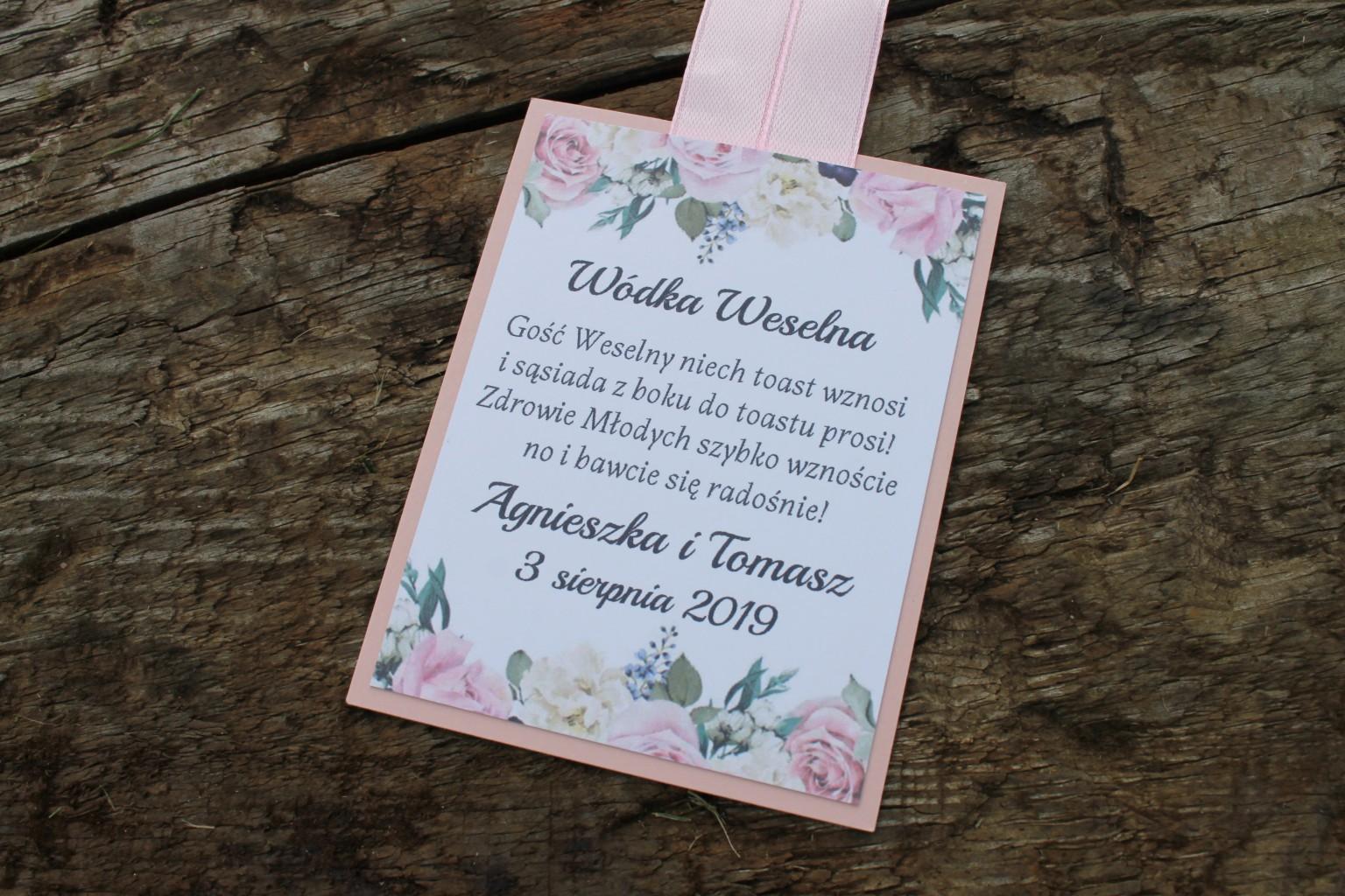 Zawieszka weselna pudrowe róże