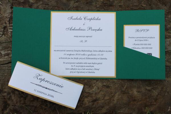 Klasyczne eleganckie zaproszenia ślubne