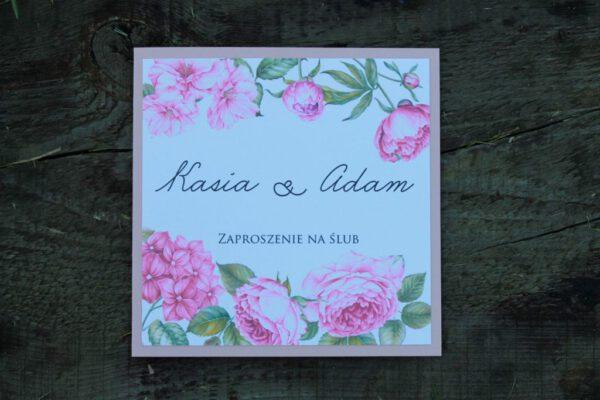 Zaproszenie botaniczne różany ogród