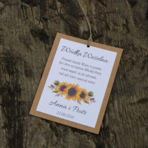 Zawieszki kwiatowe rustykalne słoneczniki