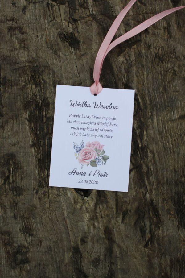 Zawieszki weselne z motwem róż